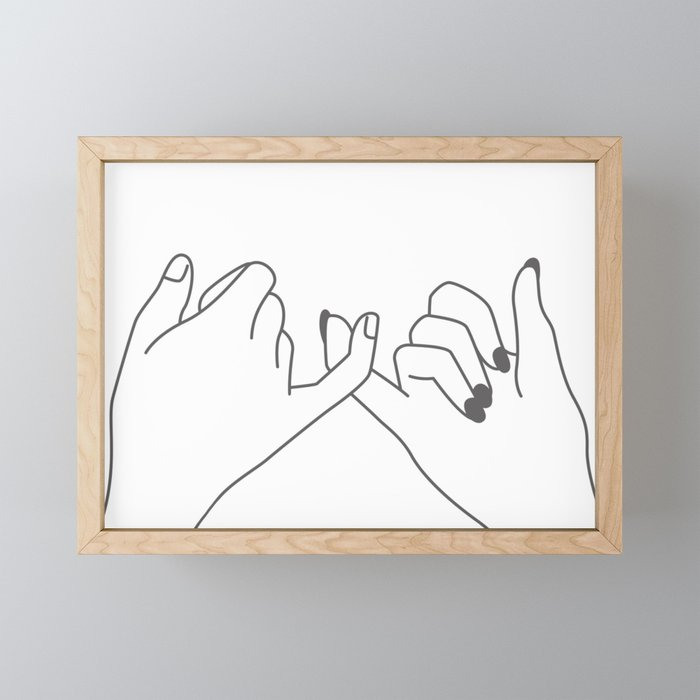 Pinky Promise 3 Framed Mini Art Print