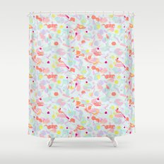 sorbet marble Shower Curtain