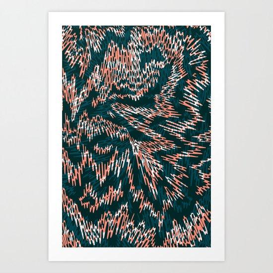 """TIGUE """"PEAKS"""" inside Art Print"""