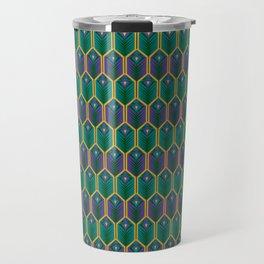 MidCentury Peacock Travel Mug