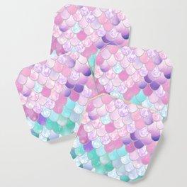 Mermaid Sweet Dreams, Pastel, Pink, Purple, Teal Coaster