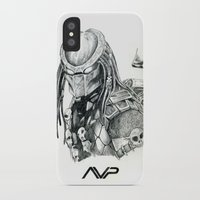 predator iPhone & iPod Cases featuring Predator. by Gary Barling