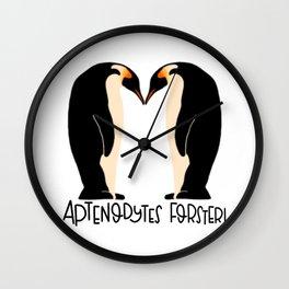 Emporer Penguin Wall Clock