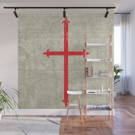 Templar Cross Wall Mural