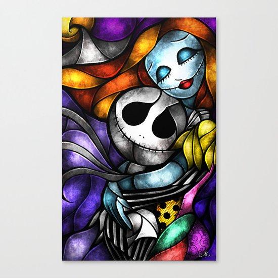 Love at its darkest Canvas Print