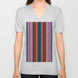 Ethnic Andean Peruvian Textile Pattern Unisex V-Neck