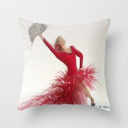 Spanish Dancer Throw Pillow
