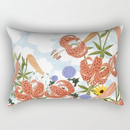 FLORILEGIUM III (TIGER LILIES) Rectangular Pillow