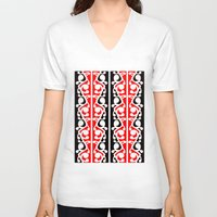 maori V-neck T-shirts featuring  Maori Kowhaiwhai Traditional Pattern  by mailboxdisco