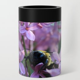 Busy Bee in Lilac Art Photography Can Cooler