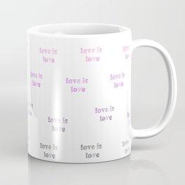 Love is Love - gender fluid pride - seamless doodle pattern Coffee Mug