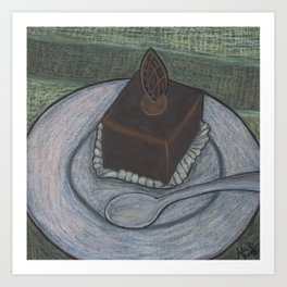 Chocolate Cake Art Print