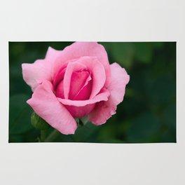 Pink Rose Flower Rug