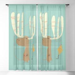 A moose ing Sheer Curtain