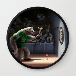Sloth Darts Wall Clock