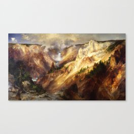 Thomas Moran - Grand Canyon of the Yellowstone Canvas Print