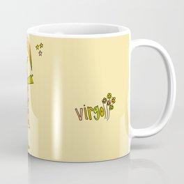 virgo flower child zodiac art by surfy birdy Coffee Mug