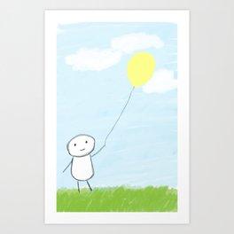 Simple Day  Art Print