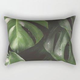 Monstera Leaves Rectangular Pillow