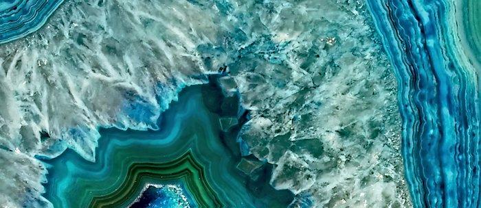 Aqua turquoise agate mineral gem stone - Beautiful Backdrop Coffee Mug