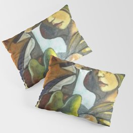 Two women with Pears and Apples by Antonio Diego Voci Pillow Sham