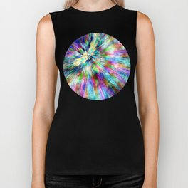 Colorful Tie Dye Watercolor Biker Tank