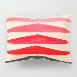 Vintage Scandinavian Red Geometric Triangle Pattern Pillow Sham