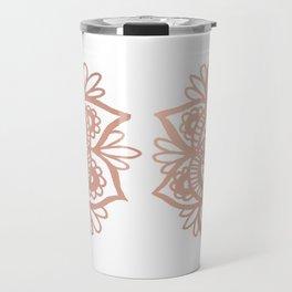 Rose Gold Mandala Travel Mug
