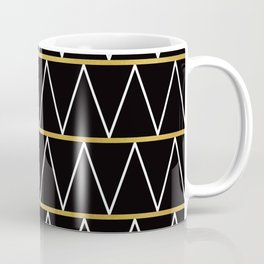 Black and gold zigzag Coffee Mug