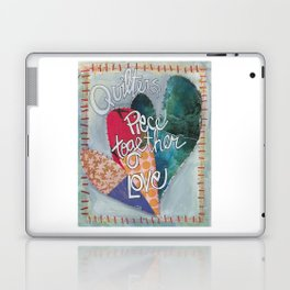 Quilters Piece Together Love Laptop & iPad Skin