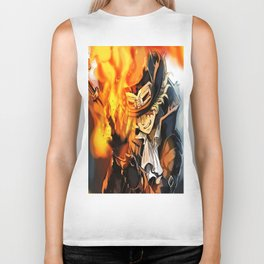 the power of fire on sabo Biker Tank