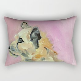 Marvelous Mystery Mutt Dog Portrait Rectangular Pillow