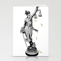 justice Stationery Cards featuring Justice by Kris Miklos