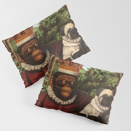 Monkey Queen with Pug Baby Pillow Sham