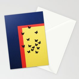 Butterfly Squares Papercut Stationery Cards