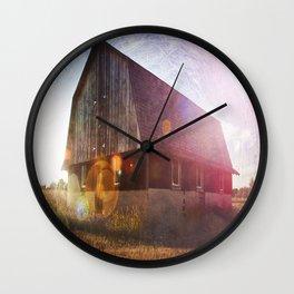 Leelanau Barn Wall Clock