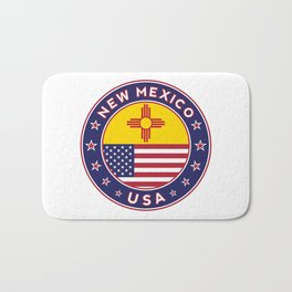 New Mexico, USA States, New Mexico t-shirt, New Mexico sticker, circle Bath Mat