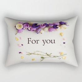 "flower frame of dried flowers, inscription ""for you"" Rectangular Pillow"