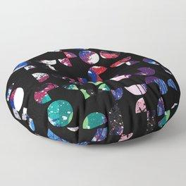 Graffiti Circles Floor Pillow