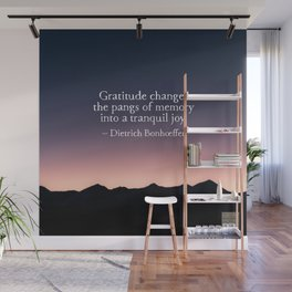 Gratitude and tranquil joy Wall Mural