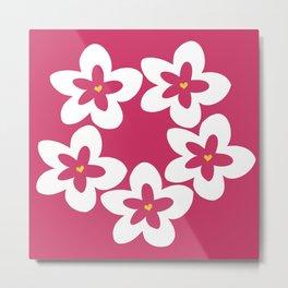 Pink Plumeria Lei (Pink) Metal Print