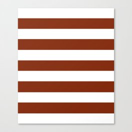 Smokey Topaz - solid color - white stripes pattern Canvas Print