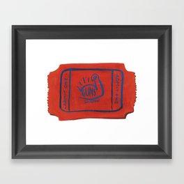 Ticket to the Guns Show Framed Art Print