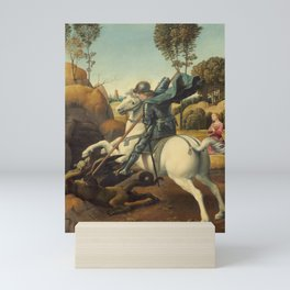 Saint George and the Dragon Oil Painting By Raphael Mini Art Print