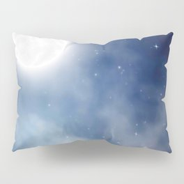 Night sky moon Pillow Sham