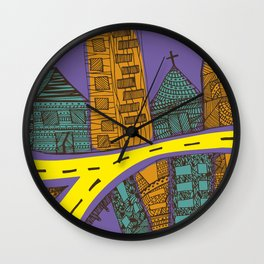 Quito City Colorful Wall Clock