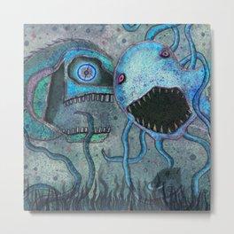 Scary Fish Metal Print