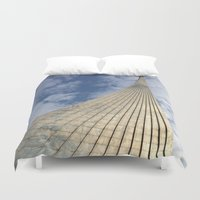 soviet Duvet Covers featuring Road to the stars. by Mikhail Zhirnov