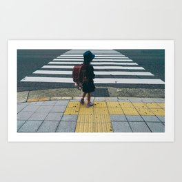 Watch The Corners Art Print