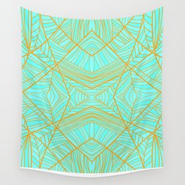 Just the Blues (Light Orange) Wall Tapestry